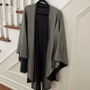 Beautiful silver metallic grey cape